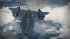 SR-71 Blackbird on Top Secret Spy Mission for Aerial Reconnaissance Stock Footage