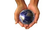Man holding a 3d Earth hands global universe world globe earth virtual planet Stock Footage