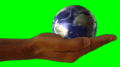 green screen hands global business universe world globe earth virtual planet - stock footage