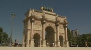 Stock Video Footage of The Arc de Triomphe du Carrousel, Paris, Zoom