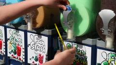 Filing up slush - stock footage