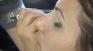 Professional makeup Stock Footage