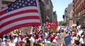 Overhead flag - Immigration march and rally HD Footage