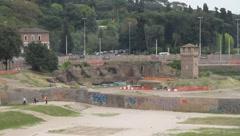 Italy - Rome - Circo Massimo Stock Footage