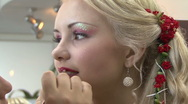 Lipstick for blondes Stock Footage