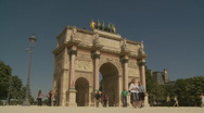 Stock Video Footage of The Arc de Triomphe du Carrousel, Paris