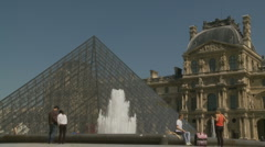 The Louvre (five) in Paris Stock Footage