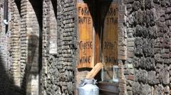 Italy San Gimignano wine shop 1 - stock footage