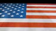 Stock Video Footage of American Flag Animation outward