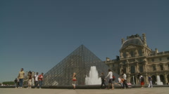 The Louvre (four) in Paris Stock Footage