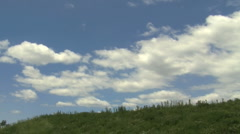 Clouds and Hill Time Lapse Stock Footage