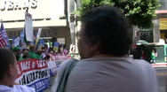 Sideline - Immigration march and rally Stock Footage