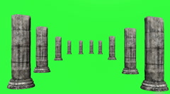 Greek Columns Green Screen Stock Footage