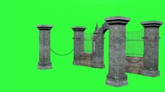 Gate, Chroma Key Stock Footage