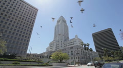 LA City Hall 04 HD Stock Footage