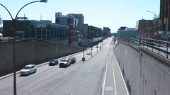 A Highway In Downtown Montreal Canada Stock Footage