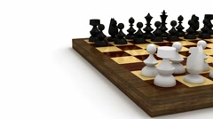 Chess pieces on table Stock Footage