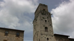 Italy San Gimignano tilts and pans 21 Stock Footage