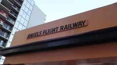 Angels Flight 02 HD Stock Footage