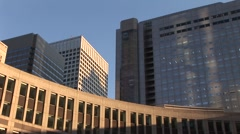 Tokyo City Government Buildings, Shinjuku Stock Footage