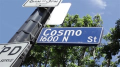 Cosmo Street 01 HD Stock Footage