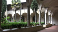 Italy San Gimignano San Augustine 2 Stock Footage