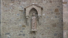 Italy San Gimignano saint on church 21 Stock Footage
