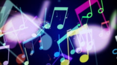 Musical Notes 2 - stock footage