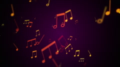 Musical Notes 1 Stock Footage