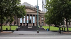 Melbourne State Library, Australia 2K Stock Footage