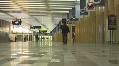 Shopping Mall At The Palais des Congress Convention Centre Montreal Canada Stock Footage