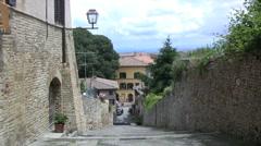 Italy San Gimignano edge of town Stock Footage