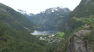 Stock Video Footage of Panorama of Geirangerfjord