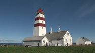 Stock Video Footage of The Alnes Lighthouse, Norway