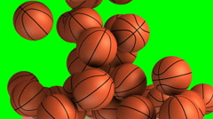 Basket balls transition effect - stock footage