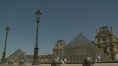 The Louvre (three) in Paris Stock Footage