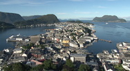 Stock Video Footage of Panorama of Alesund in Norway