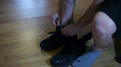 Running Shoes Black Stock Footage