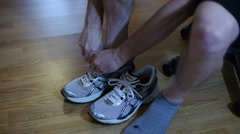 Running Shoes White Stock Footage