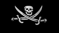 Pirate flag loop Flags flags  Stock Footage