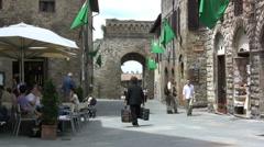 Italy San Gimignano Stock Footage
