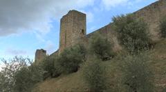 Stock Video Footage of Tuscany wall of Montereggioni 2
