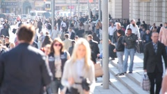People on the street Stock Footage