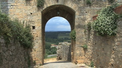 Tuscany view from Monteriggioni Stock Footage