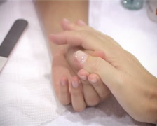 Woman`s Manicure 2 Stock Footage