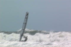 Wind surfer Stock Footage