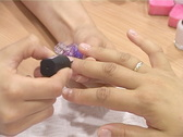 Woman`s Manicure 4 Stock Footage