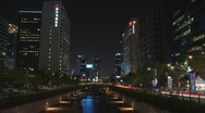Seoul River City Hall Stock Footage