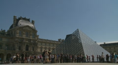 The Louvre (one) in Paris Stock Footage