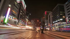 South Korea Seoul Gangnam Crossing - stock footage